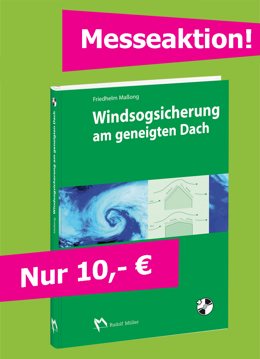 Windsogsicherung am geneigten Dach